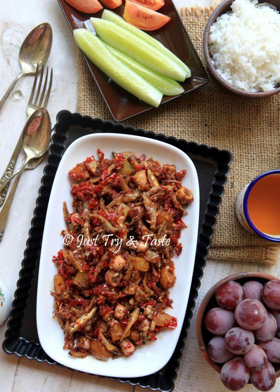 Resep Sambal Merah Cumi Asin, Teri dan Kentang | Just Try & Taste