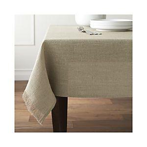 Beckett Natural Tablecloth