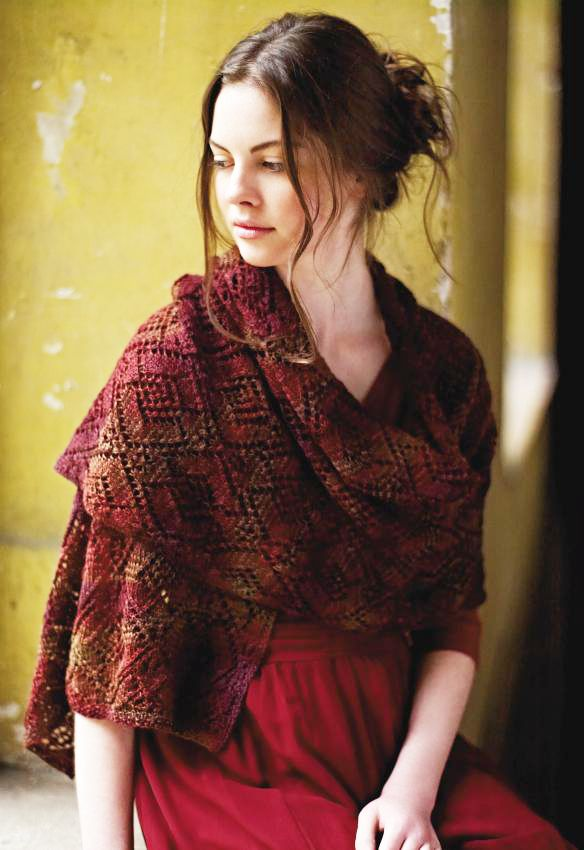 FREE Rowan pattern: Starling wrap by Marie Wallin in Rowan Fine Art (originally in Fine Art Collection booklet)