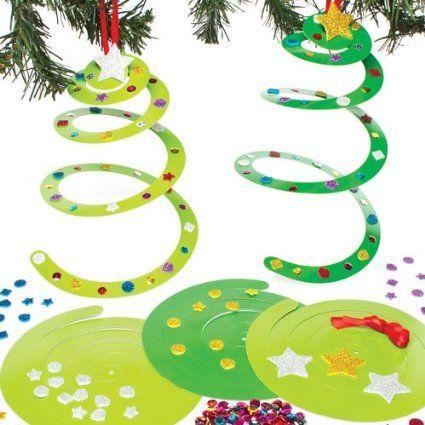 Kits de sapins spirales de no l que les enfants pourront - Guirlande noel maternelle ...