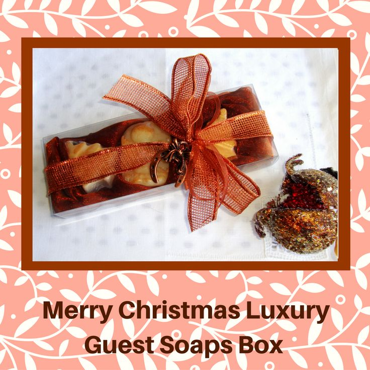 Are you looking for Stylish Christmas Ideas? My shop is full of gift ideas!  Here you can find the best gift options that anyone would be thrilled to unwrap this year! What are you thinking about that? A beautifully crafted Christmas Gift Box with three Christmas themed glycerin scented soaps and a lovely Christmas Charm for Good Luck in the packaging. A unique Christmas  gift for anyone!