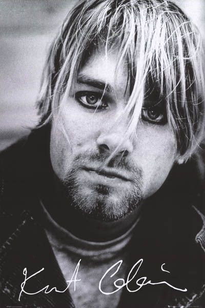A beautiful portrait poster Kurt Cobain of Nirvana! His music will never be forgotten... Fully licensed. Ships fast. 24x36 inches. Come as you are and check out the rest of our great selection of Nirv