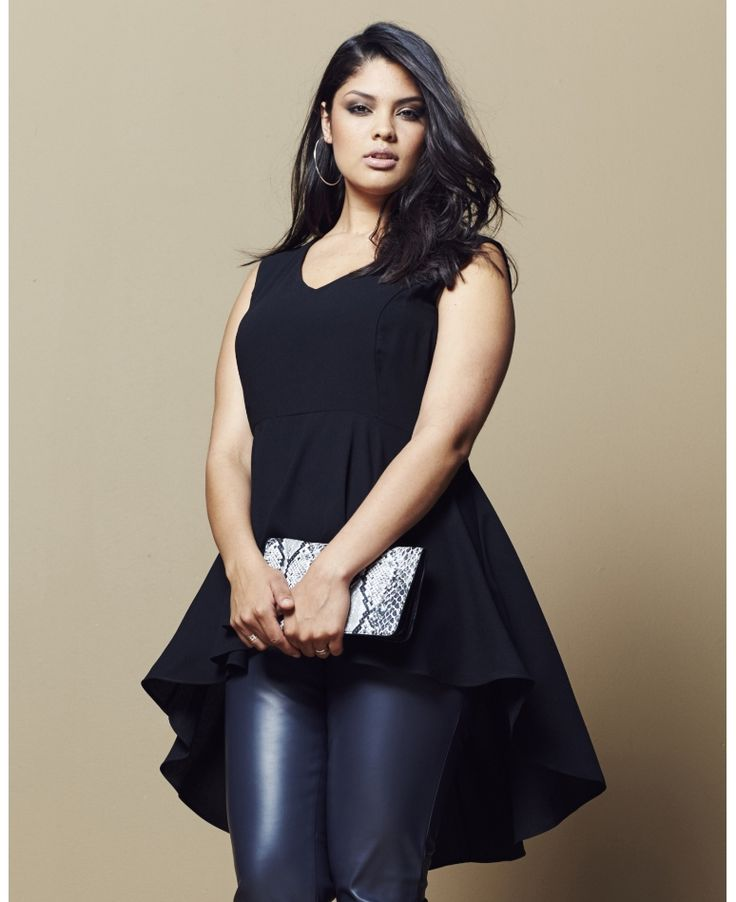 I think I'm getting this, like right now!  Plus Size Peplum Top (sizes 8 - 28)