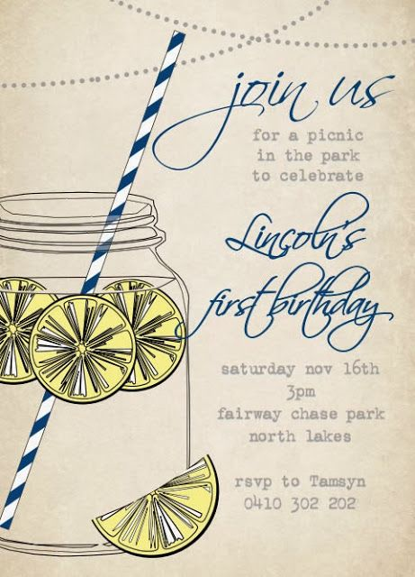 Max & Me: Picnic Party Invitations