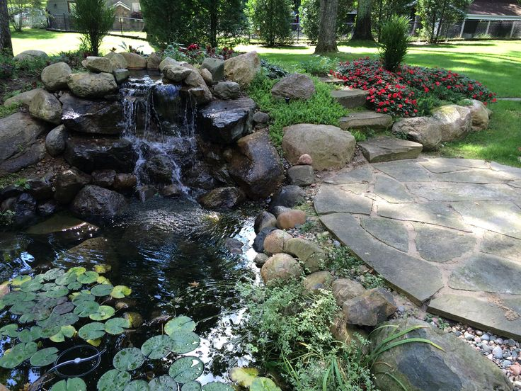 Bluestone Patiou0027s Make A Great Addition To Every #backyardpond Visit Our  Website Www.waterpaw. Pond MaintenancePond FountainsBackyard ...