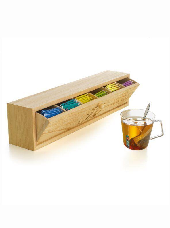 Caja infusiones basculante de madera
