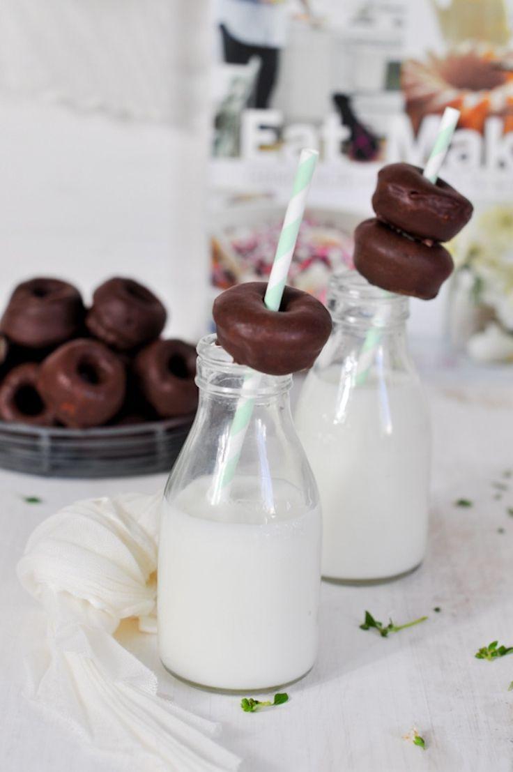donuts horneados de chocolate sweet paul