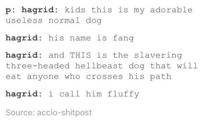 Hagrid in a nut shell
