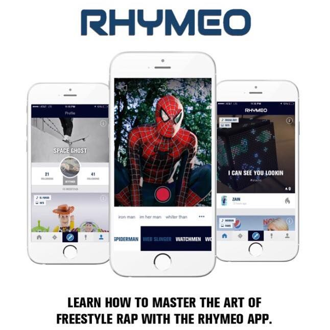 Rhymeo is the only rap app that gives visual and linguistic material to help you rap. When you freestyle rap, you need to concentrate on 2 things at the same time: vocalizing your lyrics, and thinking about the rhymes for your next line.