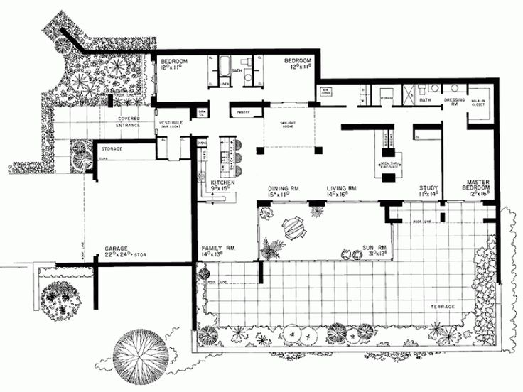 Superior Passive House Plan #6: One Story Passive Solar House Plans - Google Search