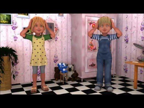 Cantece pentru copii - Cap, umeri si genunchi, degetel - YouTube