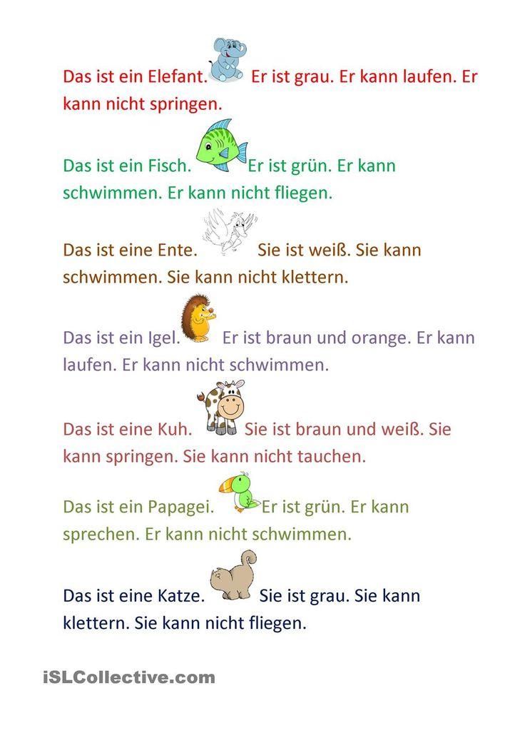 245 besten German 1 Bilder auf Pinterest | Deutsch lernen, Sprachen ...