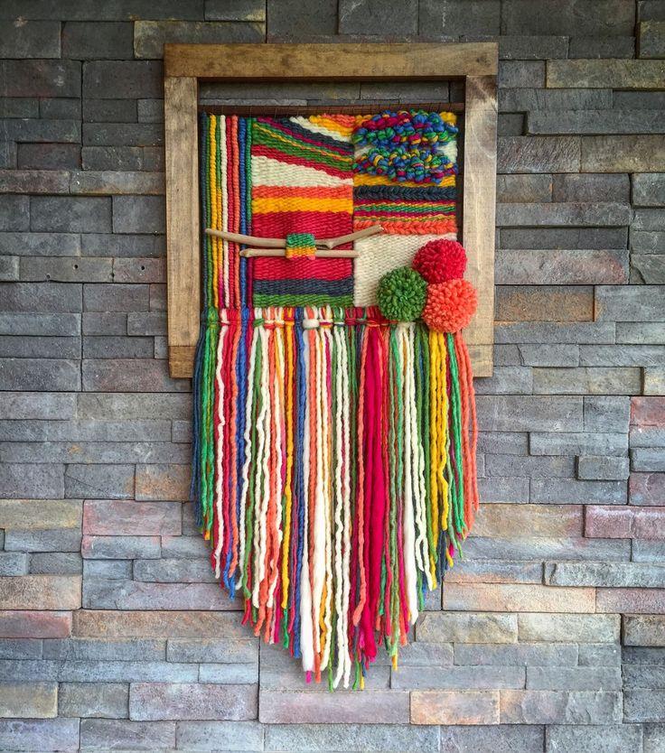 Un favorito personal de mi tienda Etsy https://www.etsy.com/es/listing/273142716/woven-wall-hanging