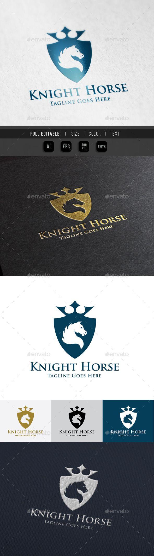 Horse Knight Shield Logo Template #design Download: http://graphicriver.net/item/horse-knight-shield-logo/10014449?ref=ksioks