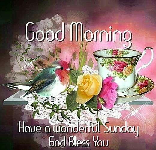 Good Morning, Have A Wonderful Sunday, God Bless You