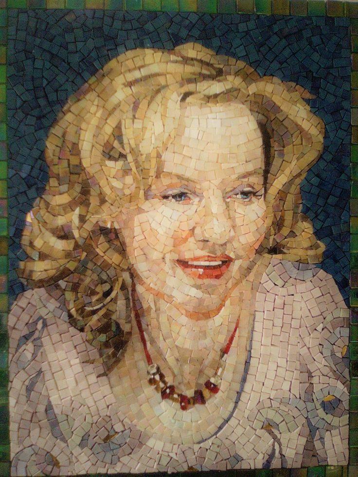 Made by Studio Mosaico Arte e Mestieri, glass mosaic SICIS. http://mosaico-arte-mestieri.com/ mosaic portrait.