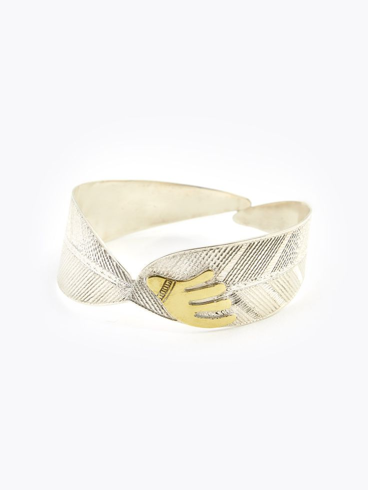bracelet bananier en argent et bronze