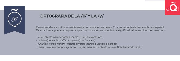 Diferencias entre /Y/ y /LL/ #Spanish #LearnSpanish http://www.donquijote.com/