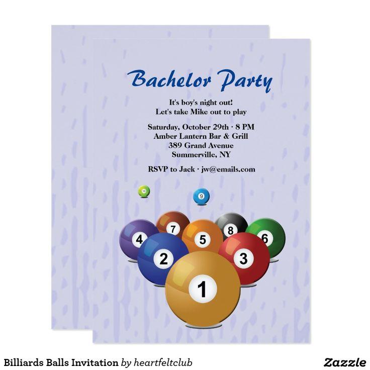 indianjones birthday party invitations printable%0A Shop Billiards Balls Invitation created by heartfeltclub