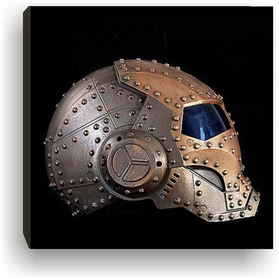 Steampunk Battle damaged  Marvel Iron Man Side Helmet by kyoob, $25.00