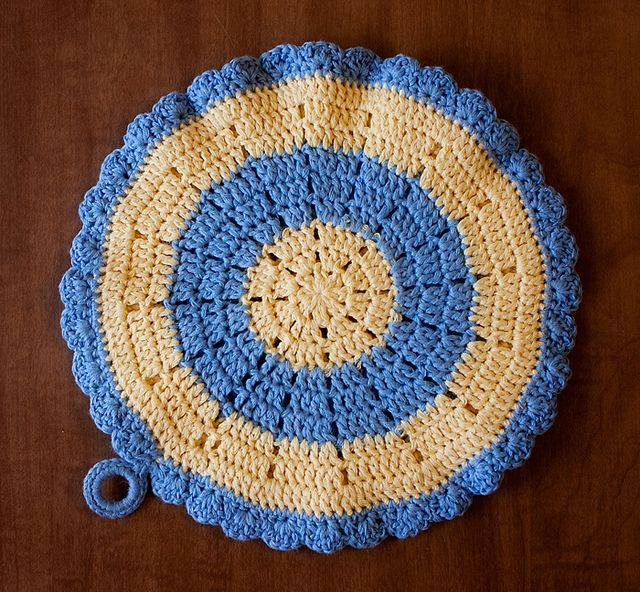 Easter Pot Holders Crochet: Crocheted Potholder
