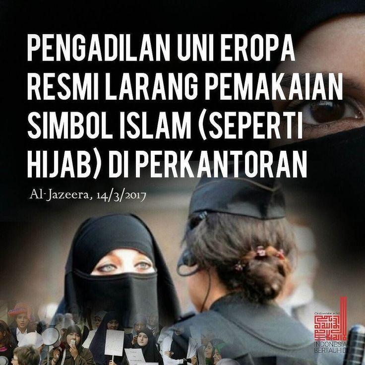 . Pengadilan Uni Eropa telah memutuskan pelarangan pemakaian simbol-simbol agama dalam hal ini termasuk hijab terhadap para pekerja atau staf yang bekerja di perusahaan atau perkantoran.  Dalam keputusan yang disahkan pada Selasa (14/3/2017) tersebut dijelaskan pemilik perusahaan berhak melarang staff-nya memakai simbol-simbol agama tertentu. Tidak terkecuali staf yang beragama Islam mereka berhak melarang pemakaian hijab di perusahaan mereka.  Hakim dari Pengadilan Eropa (ECJ) mengatakan…