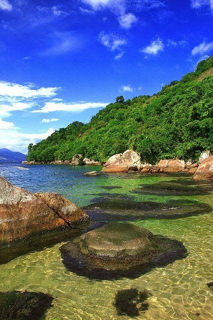 Plage de sorcière, Ilha Grande, Rio de Janeiro, au Brésil ...