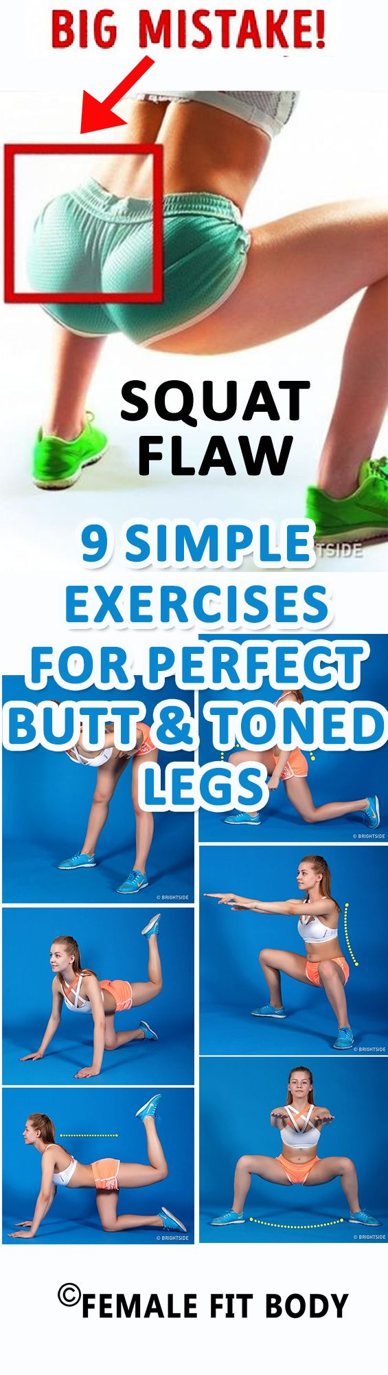 9 Simple Exercises for Perfect Butt and Toned Legs