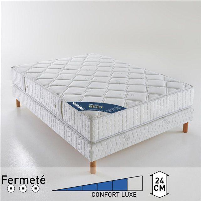 Matelas à ressorts ensachés confort luxe ferme 7 zones, haut. 24 cm BEST