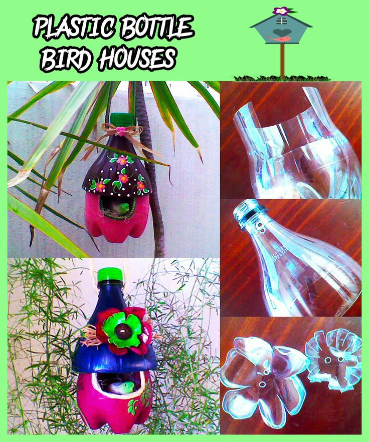 48 best recycle monsters images on pinterest birdhouses for Plastic bottle bird house