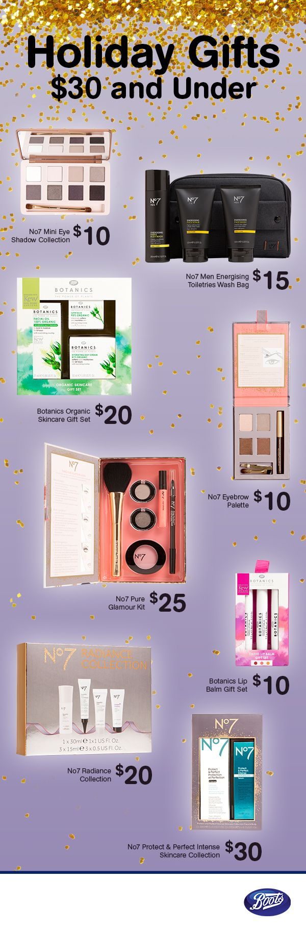 We have holiday gift sets and stocking stuffers for everyone on your list!