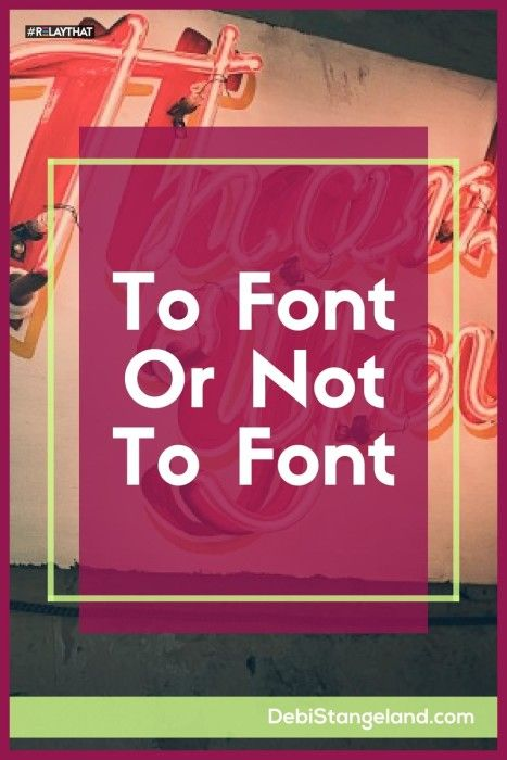 To Font Or Not To Font ★ To get the most bang for your buck limit fonts to your graphics. Draw your reader's eye to something that will make a lasting impression. For your writing stick with clear, readable fonts. ★ Learn HOW To Blog ★