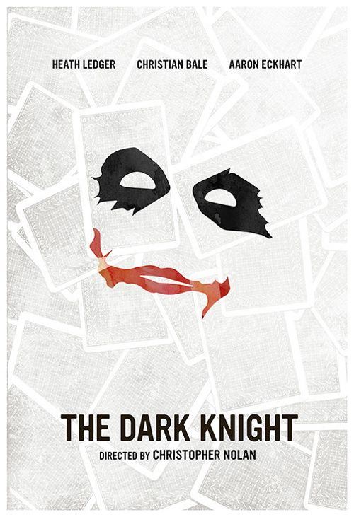 The Dark Knight (2009) ~ Minimal Movie Poster by Calm the Ham #amusementphile