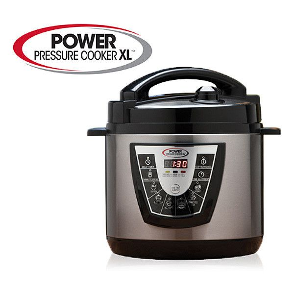 Cook delicious meals in minutes with the Power Pressure Cooker XL.