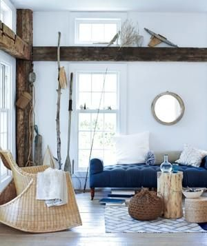 Easy, Beach-Inspired Decorating Ideas | How to create a casual vibe with sunshine, white space, and organic treasures.