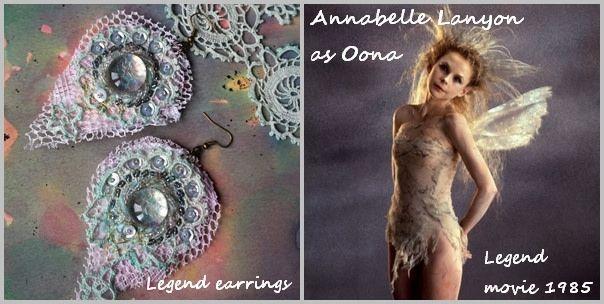 https://flic.kr/p/So9okW | LEGEND earrings | Oona (Legend movie) inspired Fairy bijoux by La Polena. SPECIAL EFFECTS GLASS, No.138- SERPENT SKIN