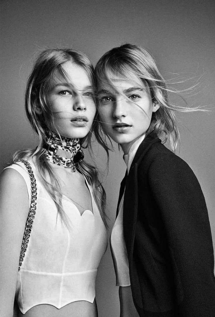 Maartje Verhoef and Sofia Mechetner in Dior Spring 2016 campaign photographed by Patrick Demarchelier