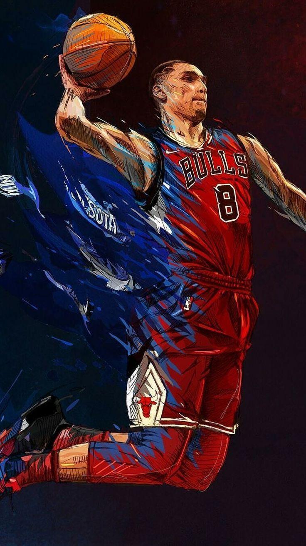 Zach Lavine wallpaper Nba basketball art, Nba pictures