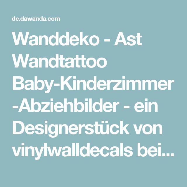 Best Wanddeko Ast Wandtattoo Baby Kinderzimmer Abziehbilder ein Designerst ck von vinylwalldecals bei DaWanda