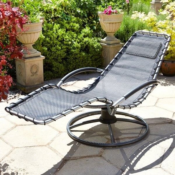 brundle gardener garden lounger black - Garden Furniture Loungers