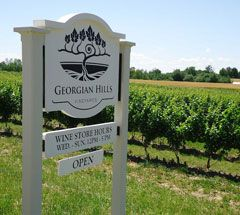 Wine tasting and tours at Georgian Hills Vineyards - Blue Mountain, Ontario Canada