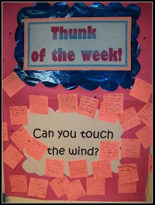 Creative Teaching Displays: THUNK of the week!