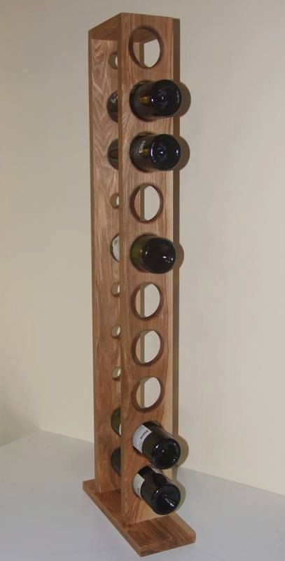 Standing wine shelf by WoodenWorldDenic on Etsy