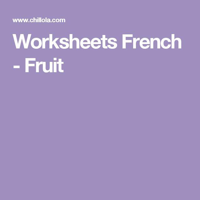 Worksheets French - Fruit