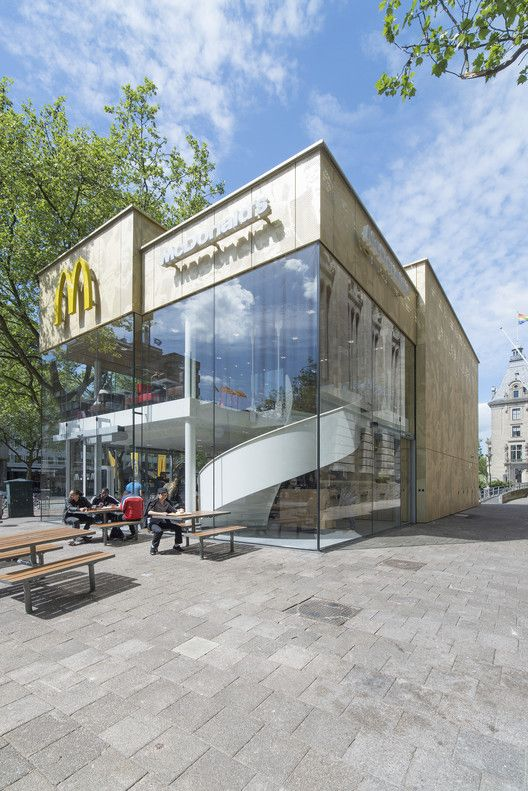 Best Mc Donalds Coolsingel Rotterdam Images On Pinterest - Camouflaged into its surroundings mcdonalds restaurant by mei architects