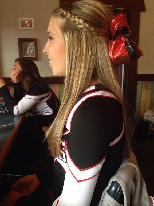 cheer hair My girl is a Pin-tastic superstar! @Emmy Hinds @Abby Hinds