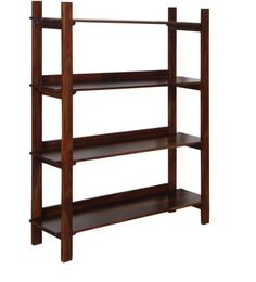 Athena Book Shelf in Provincial Teak with Melamine Finish by Woodsworth