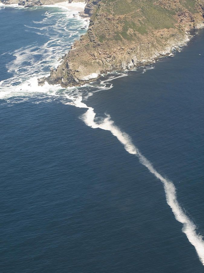 Cape Point, the dividing point between the Atlantic and Indian oceans