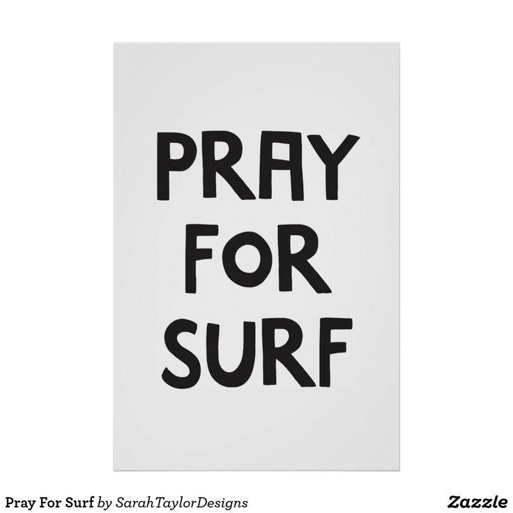Pray For Surf Poster