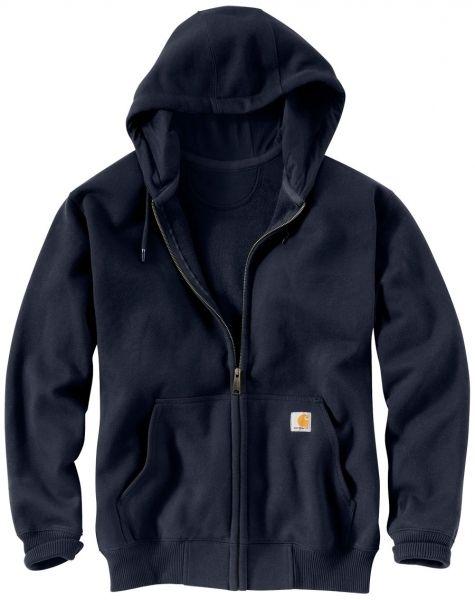 Carhartt Paxton Heavyweight Sweatshirt med hætte og lynlås, navy (100614-472) - Overdele - BILLIG-ARBEJDSTØJ.DK
